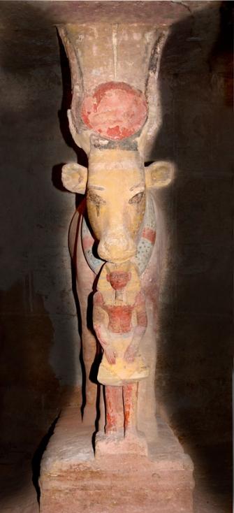 Hathor og Ramses II, Bubasteion Alain Zivie