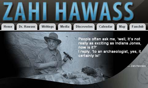 ny Hawass hjemmeside