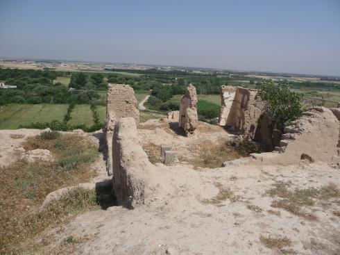 Kadesh - nyere ruiner på toppen af Tellen