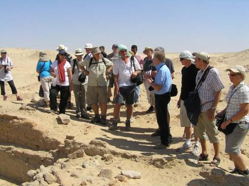 Arbejderlandsbyen i Amarna med Kemp